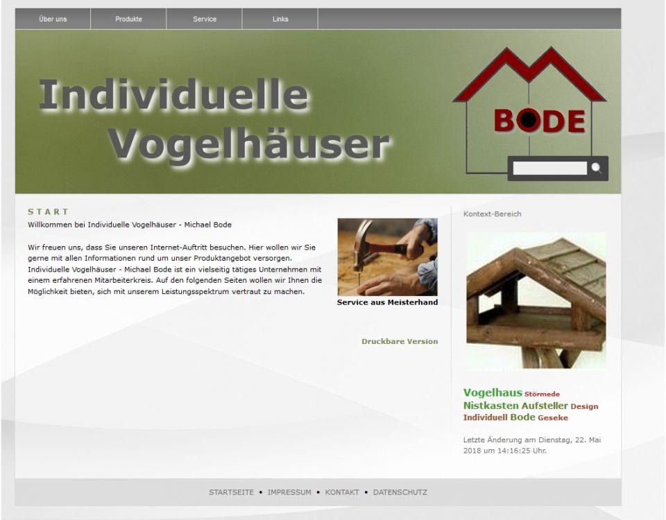 A24-data Projekt Bode Vogelhäuser